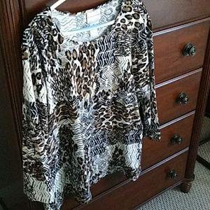 Alfred Dunner Safari print blouse
